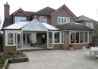 Conservatory and Orangery in contemporary style near Chalfont St Giles, Bucks
