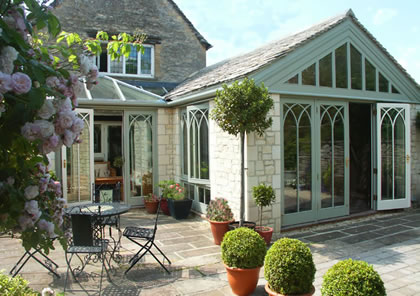 Conservatory on listed cottage in Cotswolds