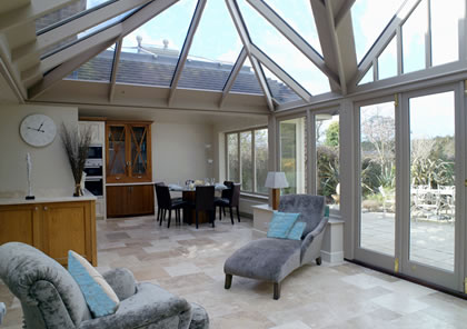 Conservatory providing new living and dining spaces