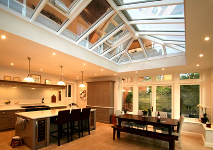 Orangery kitchen extension in Surbiton Surrey