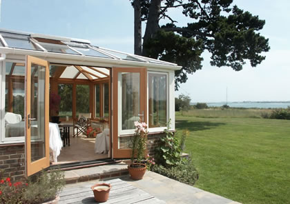 Conservatory extension with aluminium clad exterior near Portsmouth, Hampshire