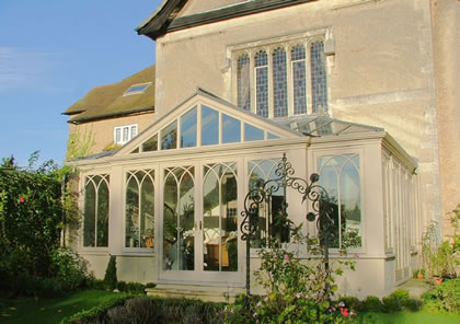 Conservatory on a Grade II Listed building near Cirencester, Glos