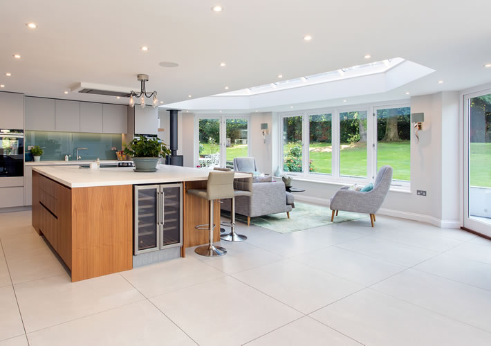 Elegant Kitchen Roof Extension With Roof Lantern, Surrey