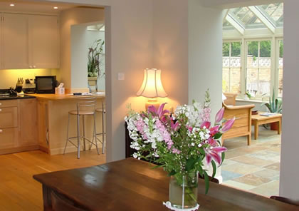 Conservatory kitchen with sitting area near Henley on Thames, Bucks