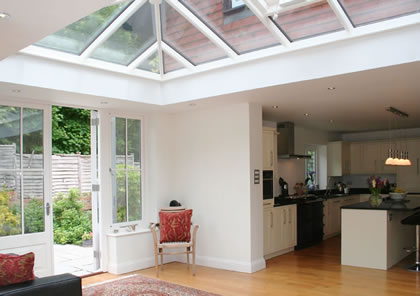 Orangery kitchen near Winchester