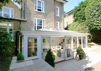 Classic Orangery on listed house in Wimbledon, London