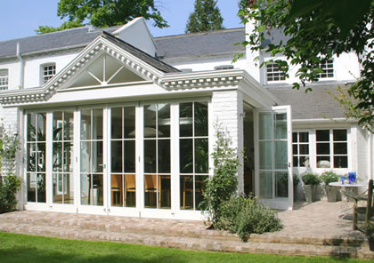Orangery with folding sliding doors in Wimbledon