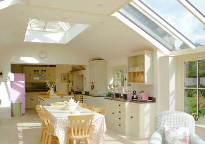 Roof lantern over dining area near Lechlade in Gloucesterhire