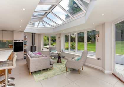 Kitchen room extension Orangery in Esher, Surrey