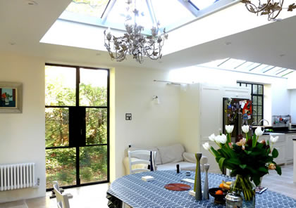 Orangery roof lantern in Oxfordshire