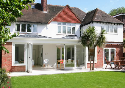 Orangery with double roof lantern in Twickenham, South West London