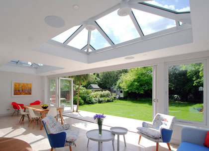 Double Orangery with views to garden in South West London