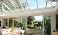 Orangery with large roof lantern in South West London