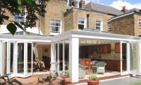 Orangery with folding sliding doors in Clapham, London
